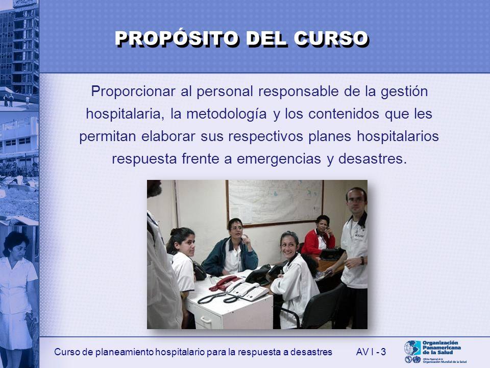 PROPÓSITO DEL CURSO