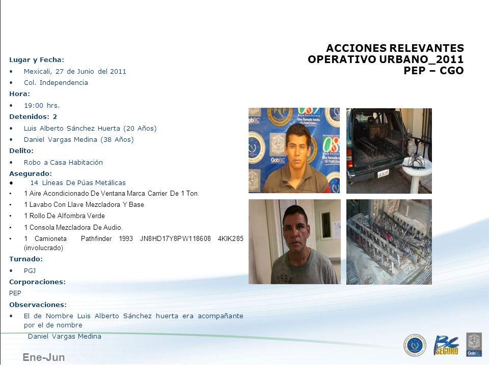 MEXICALI ACCIONES RELEVANTES OPERATIVO URBANO_2011 PEP – CGO