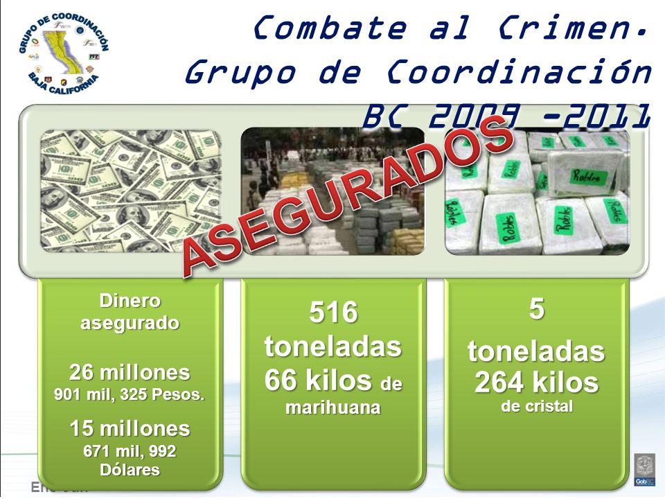 516 toneladas 66 kilos de marihuana toneladas 264 kilos de cristal
