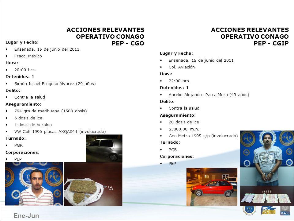 ENSENADA ACCIONES RELEVANTES OPERATIVO CONAGO PEP - CGO