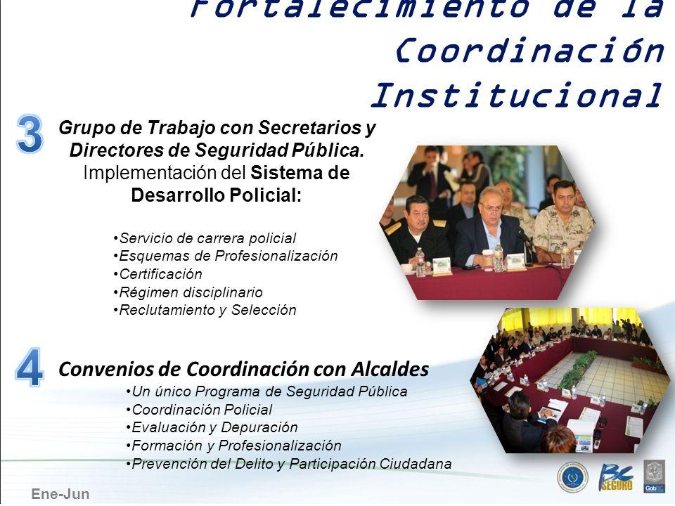 Grupo de Trabajo con Secretarios y Directores de Seguridad Pública.