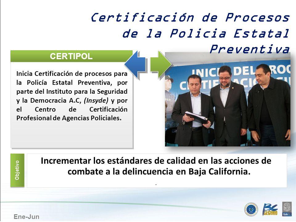 Certificación de Procesos de la Policia Estatal Preventiva