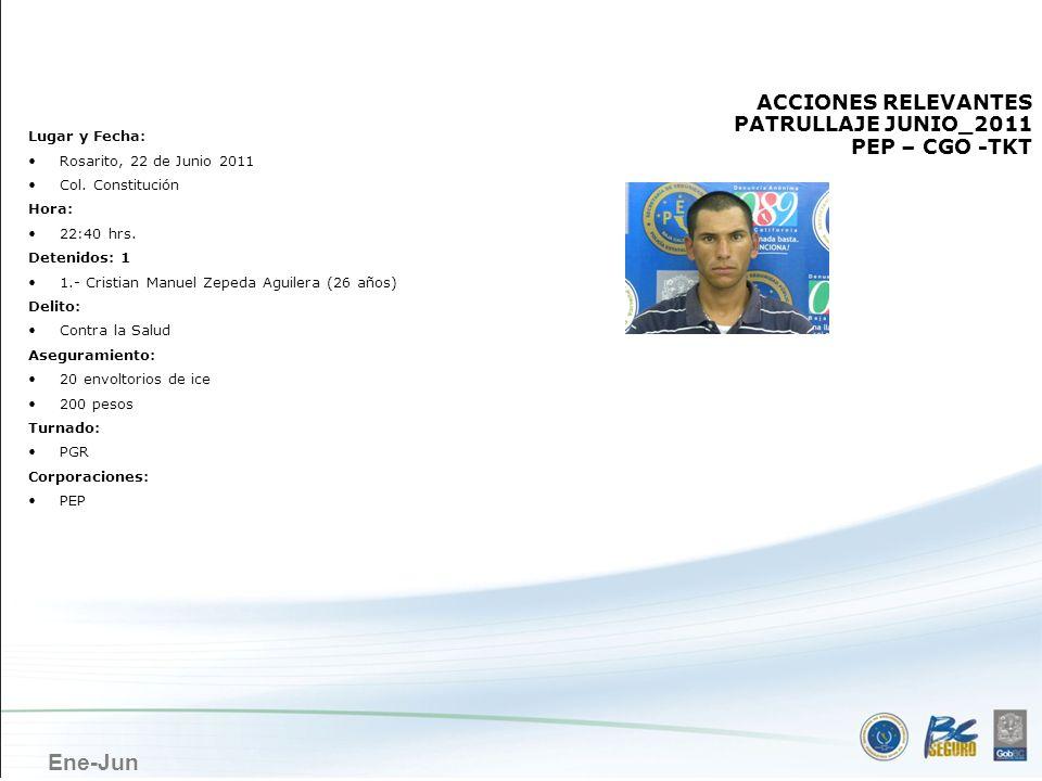 ROSARITO ACCIONES RELEVANTES PATRULLAJE JUNIO_2011 PEP – CGO -TKT