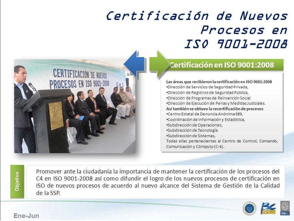 Certificación de Nuevos Procesos en ISO 9001-2008