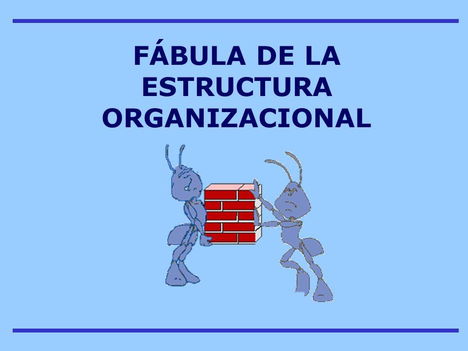 FÁBULA DE LA ESTRUCTURA ORGANIZACIONAL
