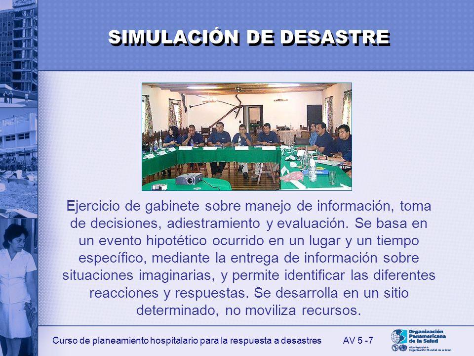 SIMULACIÓN DE DESASTRE