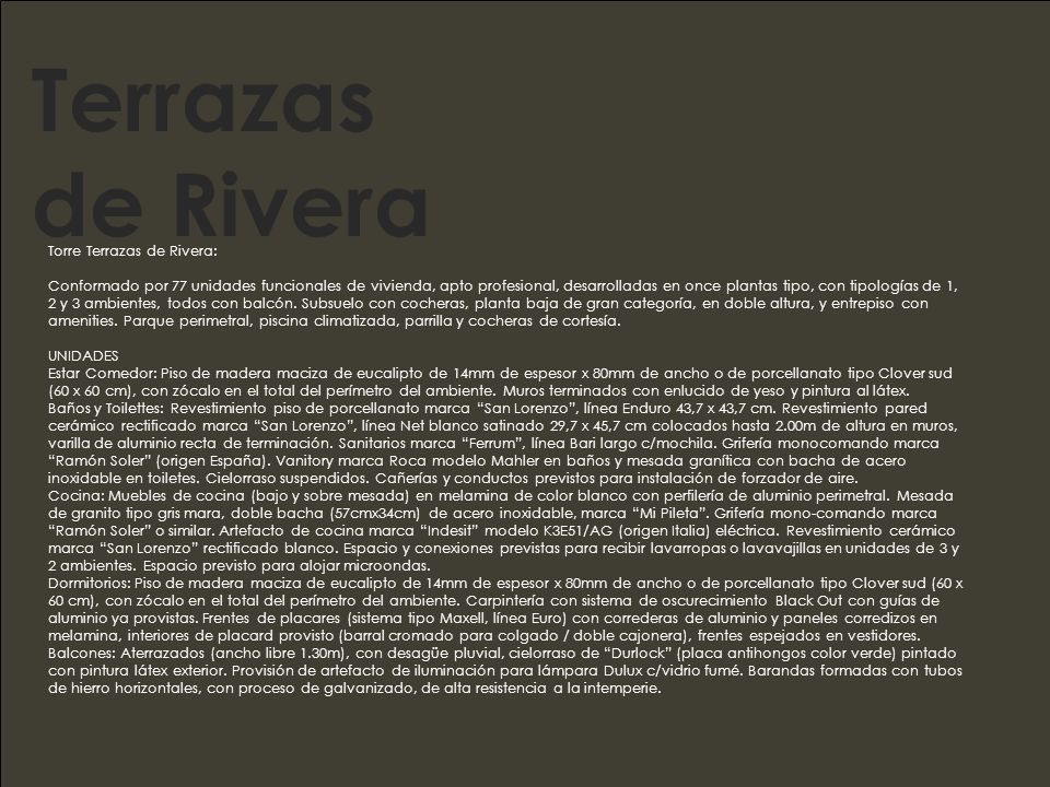 Terrazas de Rivera Torre Terrazas de Rivera: