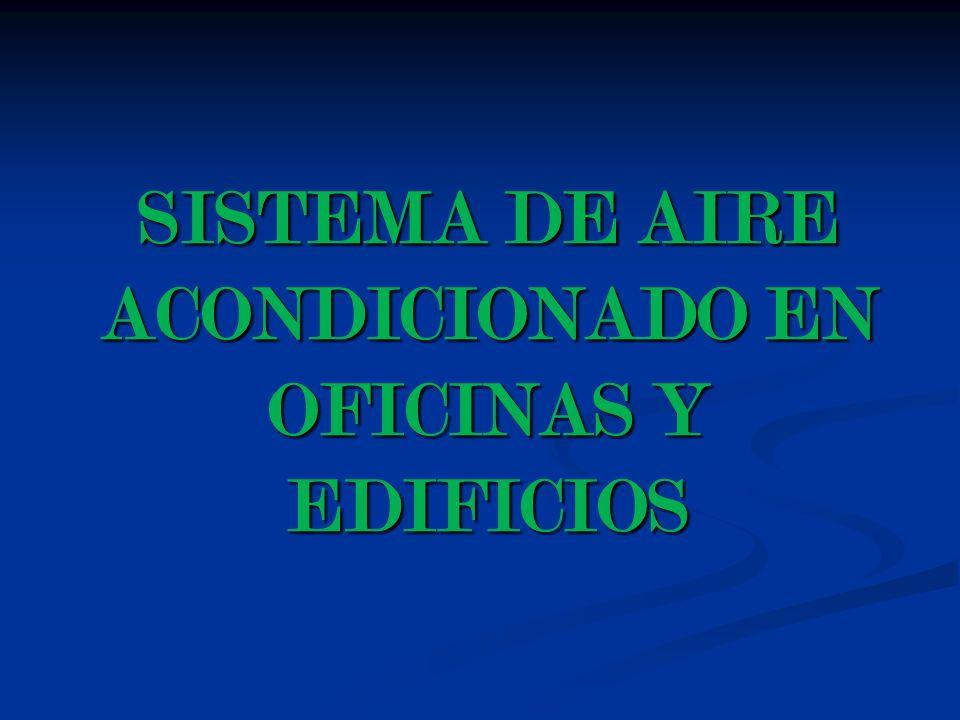 SISTEMA DE AIRE ACONDICIONADO EN OFICINAS Y EDIFICIOS