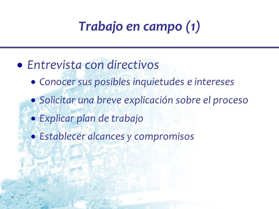 Trabajo en campo (1) Entrevista con directivos