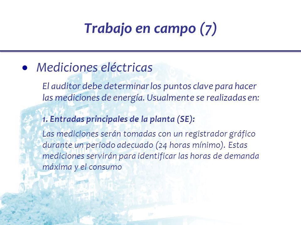 Trabajo en campo (7) Mediciones eléctricas