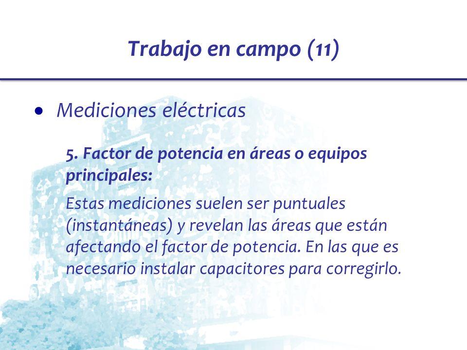 Trabajo en campo (11) Mediciones eléctricas