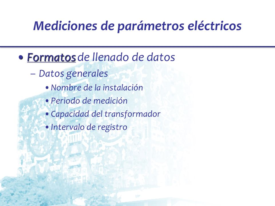 Mediciones de parámetros eléctricos