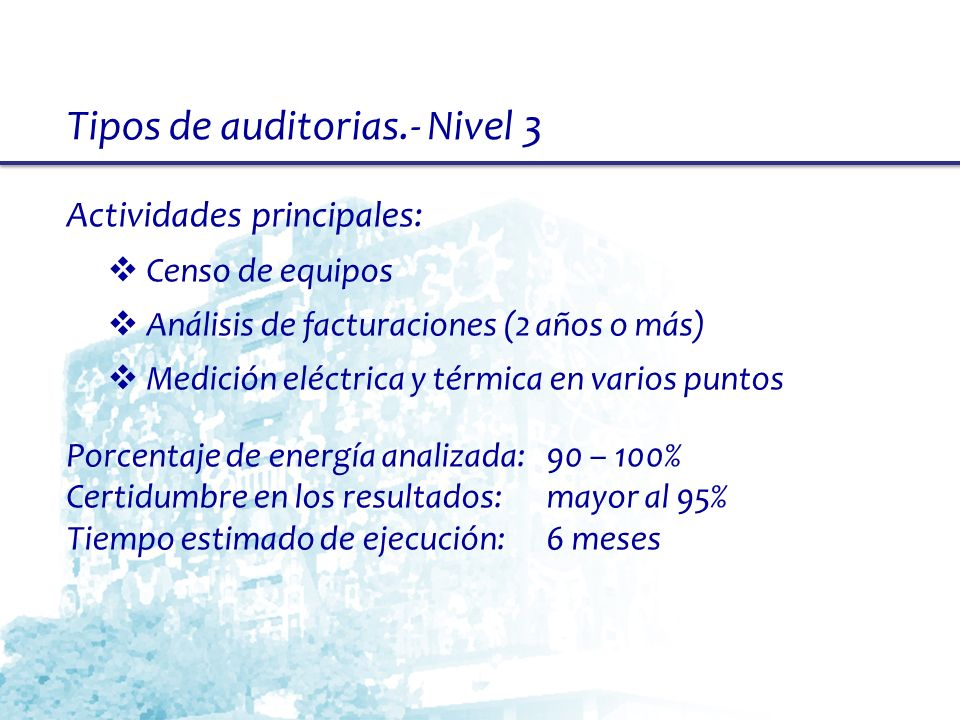 Tipos de auditorias.- Nivel 3