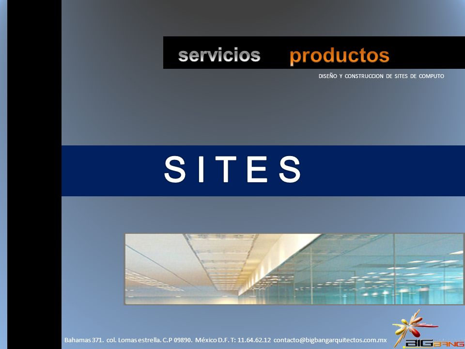 DISEÑO Y CONSTRUCCION DE SITES DE COMPUTO