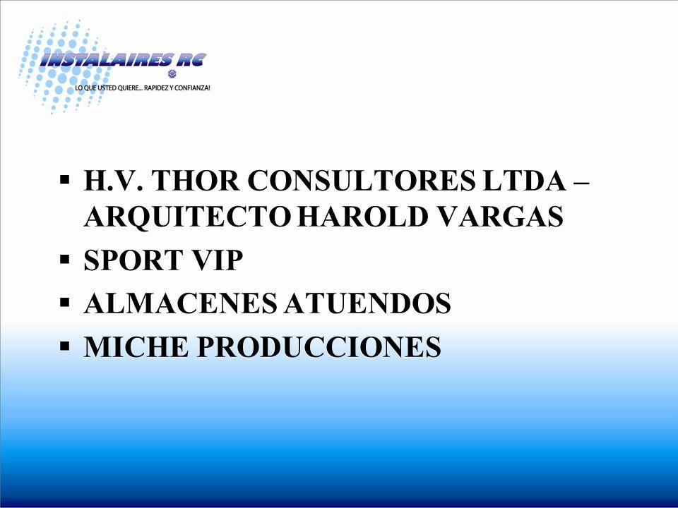 H.V. THOR CONSULTORES LTDA – ARQUITECTO HAROLD VARGAS