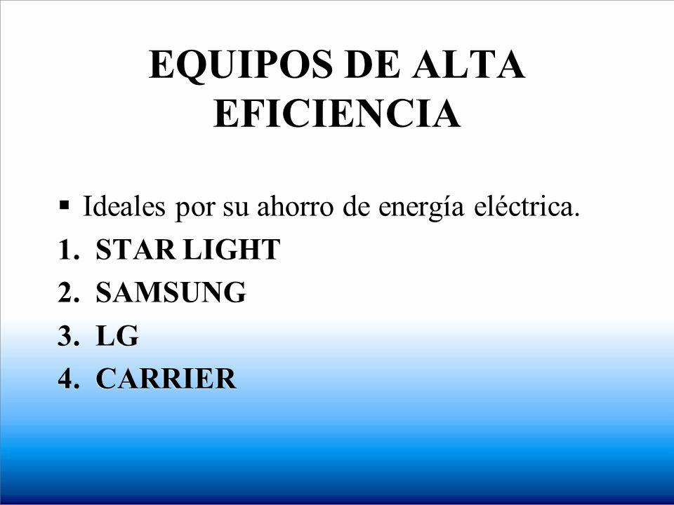 EQUIPOS DE ALTA EFICIENCIA