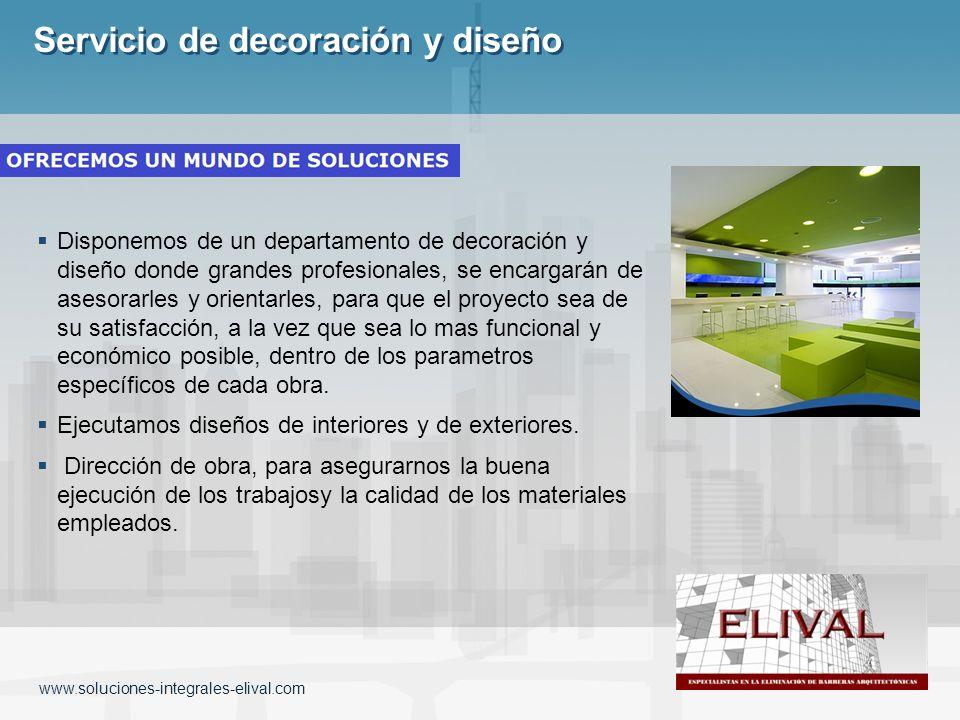 Servicio de decoración y diseño