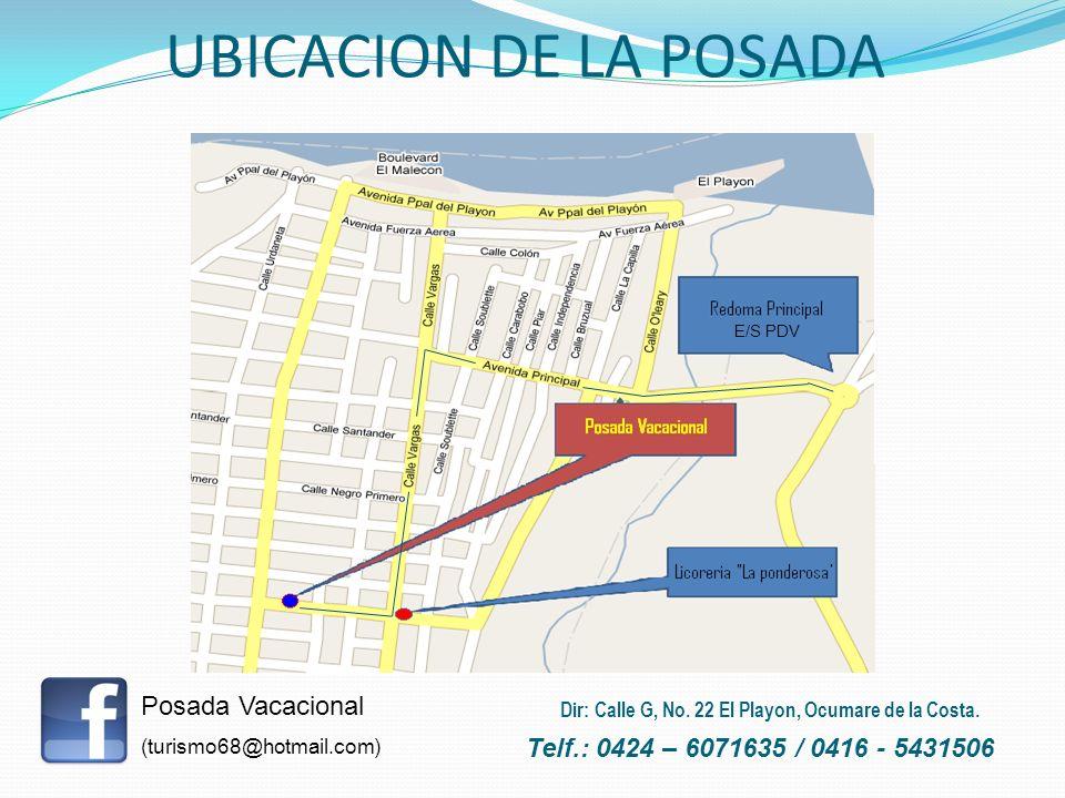 UBICACION DE LA POSADA Posada Vacacional