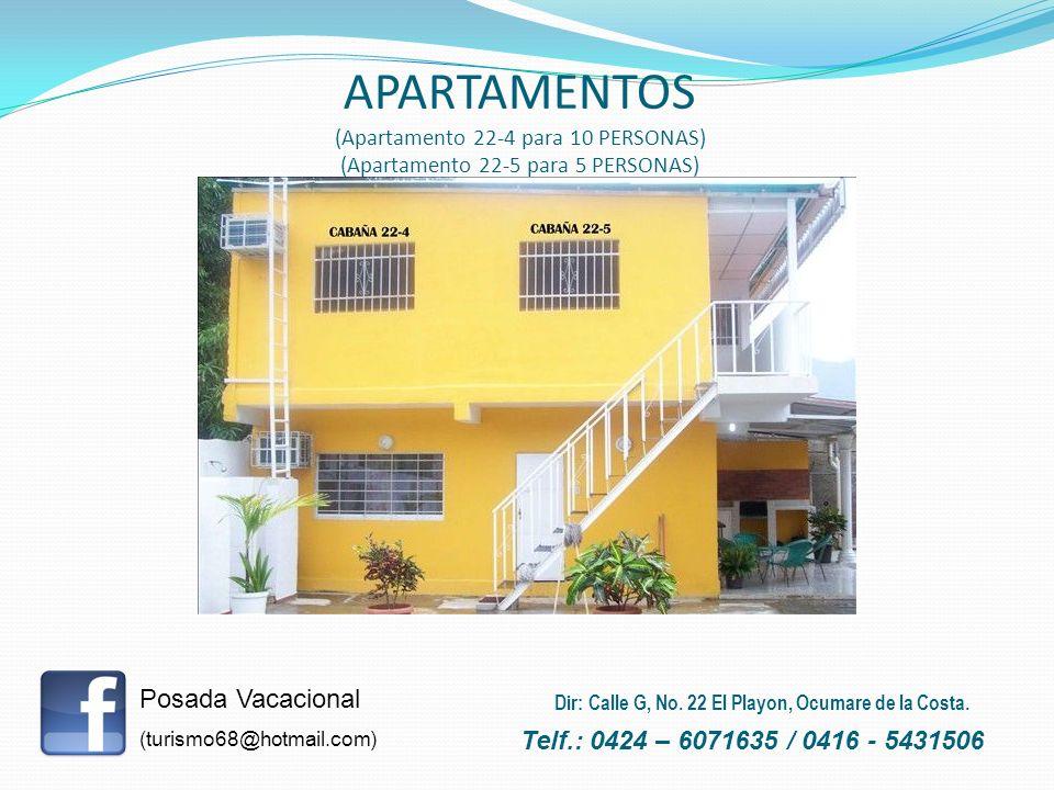 APARTAMENTOS (Apartamento 22-4 para 10 PERSONAS) (Apartamento 22-5 para 5 PERSONAS)