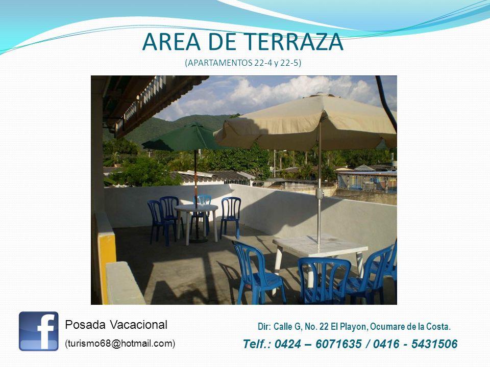 AREA DE TERRAZA (APARTAMENTOS 22-4 y 22-5)