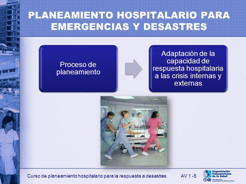 PLANEAMIENTO HOSPITALARIO PARA EMERGENCIAS Y DESASTRES