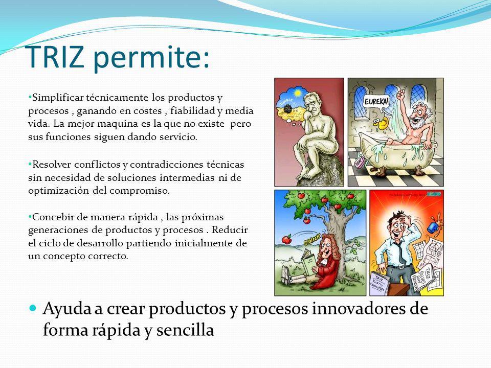 TRIZ permite: