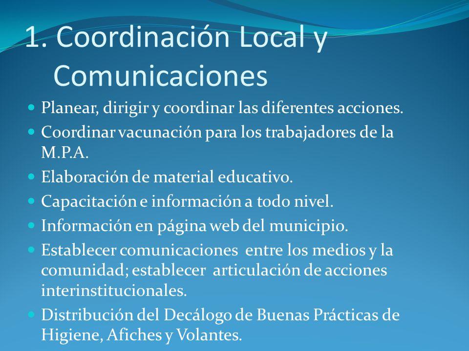 1. Coordinación Local y Comunicaciones