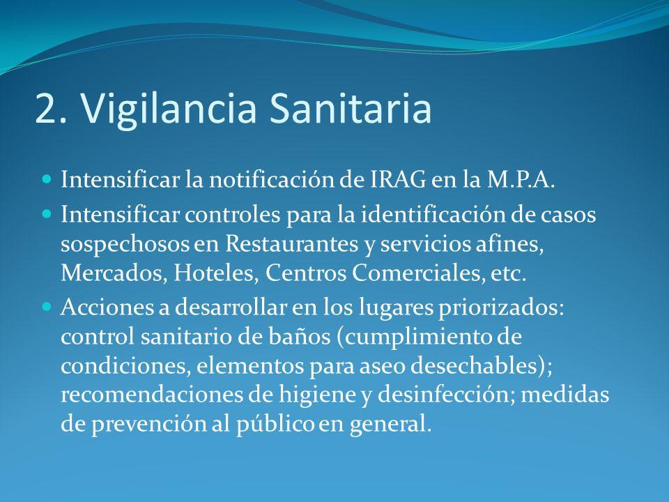 2. Vigilancia Sanitaria Intensificar la notificación de IRAG en la M.P.A.