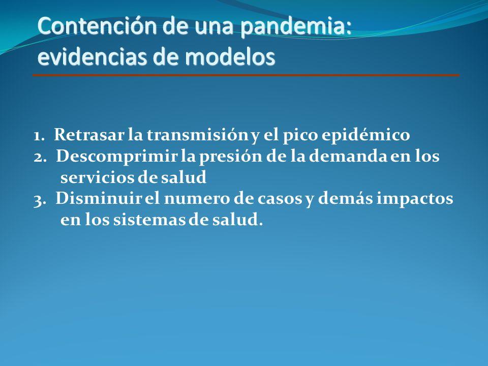 Contención de una pandemia: evidencias de modelos