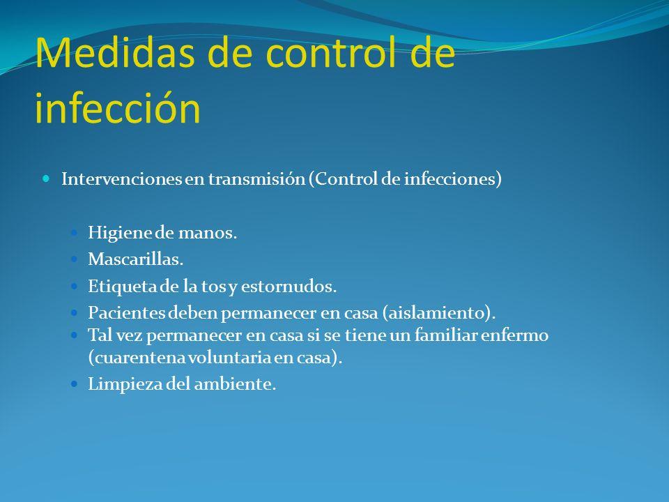 Medidas de control de infección