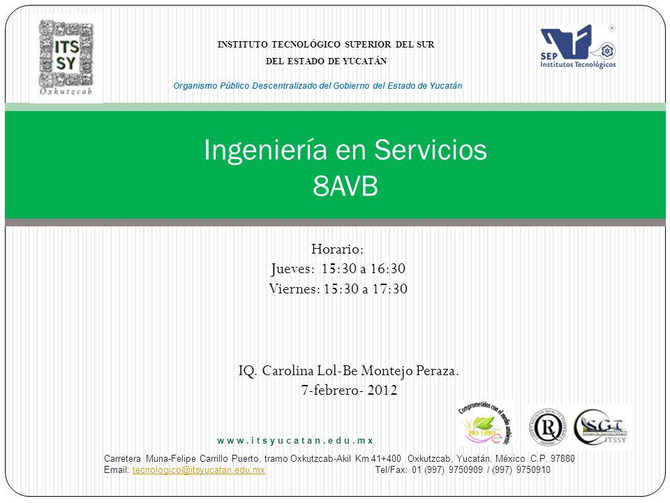 Ingeniería en Servicios 8AVB