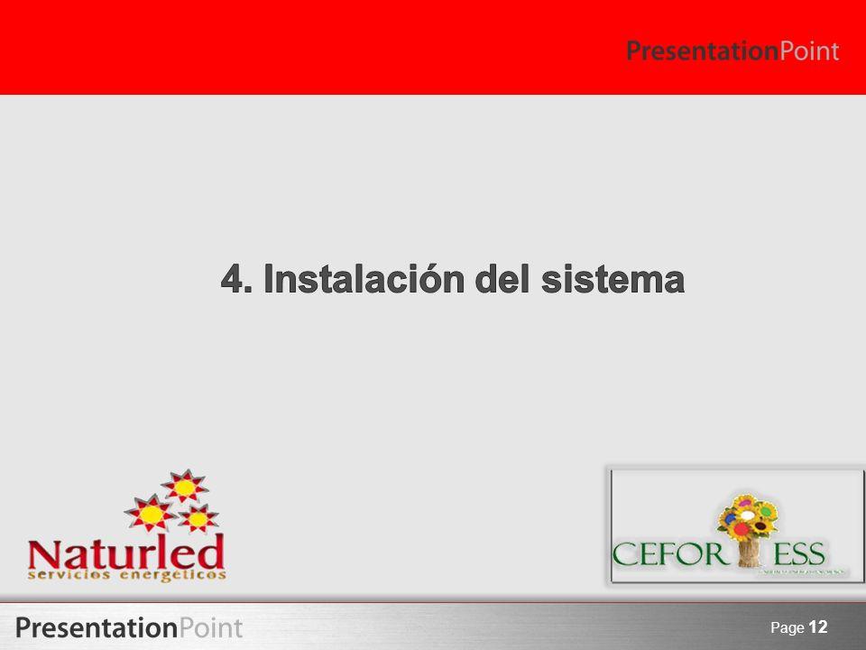 4. Instalación del sistema