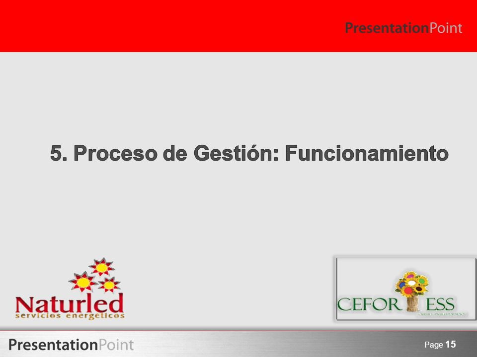 5. Proceso de Gestión: Funcionamiento