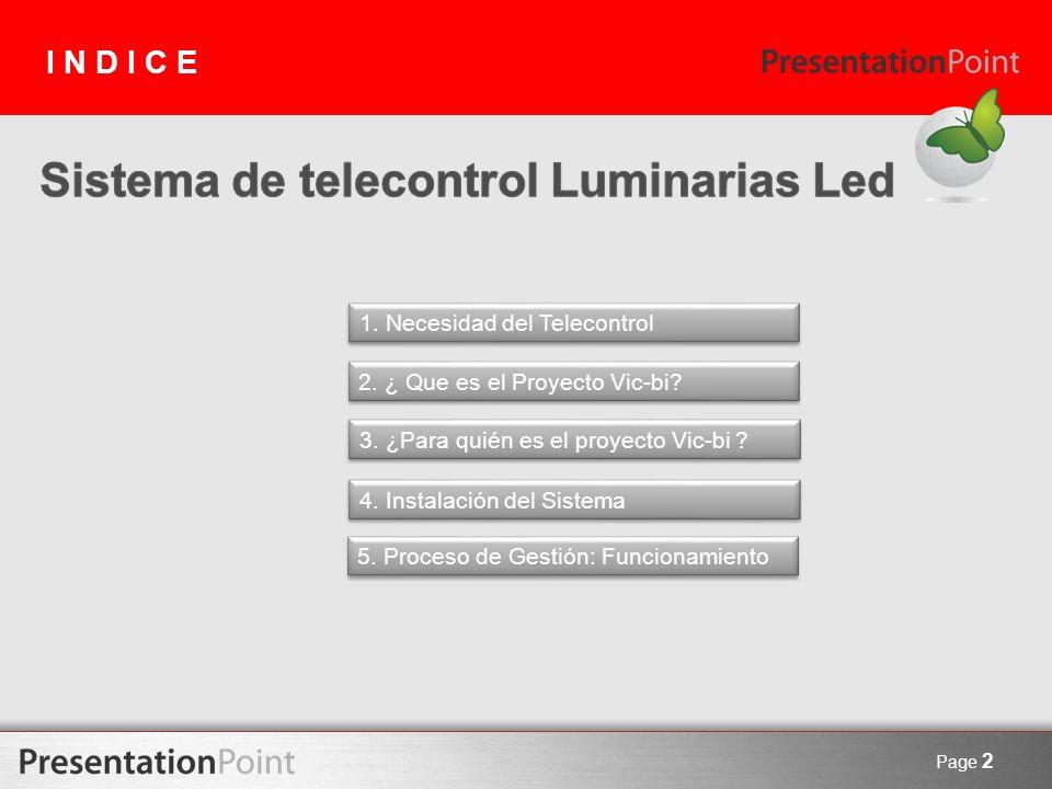 Sistema de telecontrol Luminarias Led