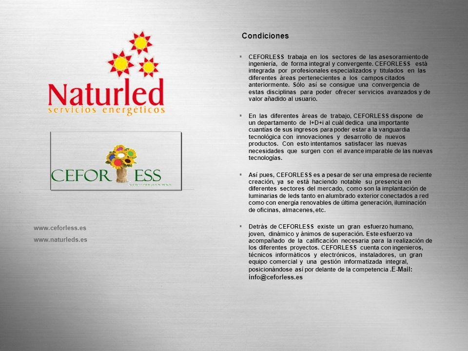 Condiciones Page 22 www.ceforless.es www.naturleds.es