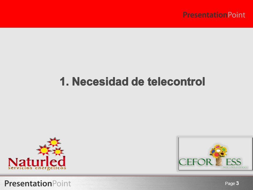 1. Necesidad de telecontrol