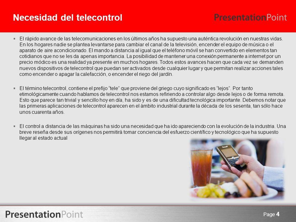 Necesidad del telecontrol