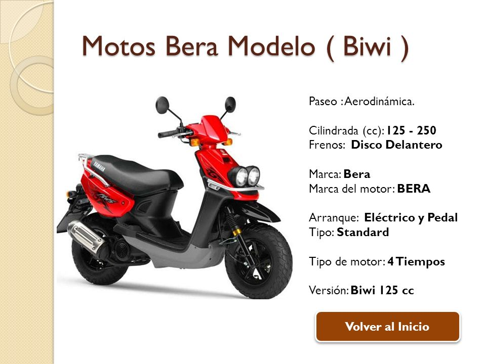 Motos Bera Modelo ( Biwi )