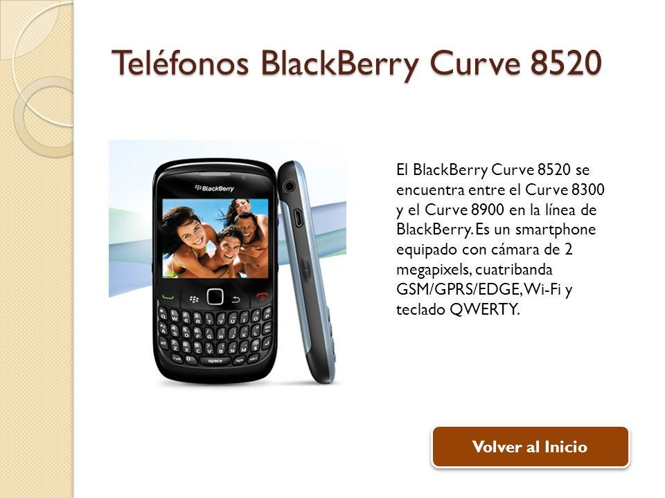 Teléfonos BlackBerry Curve 8520