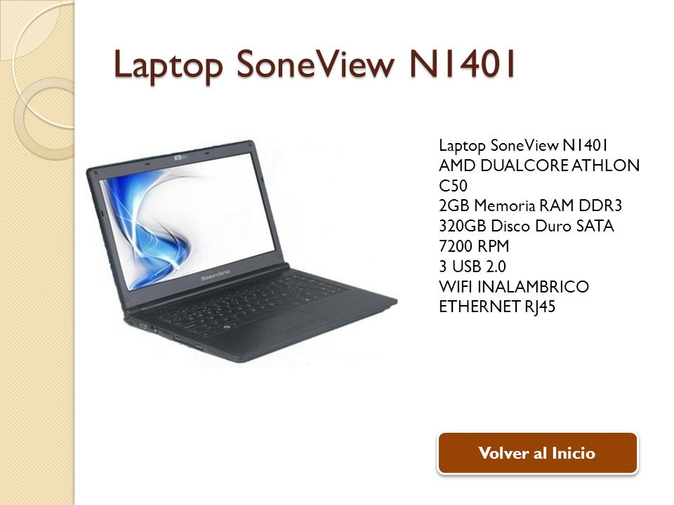 Laptop SoneView N1401 Laptop SoneView N1401 AMD DUALCORE ATHLON C50