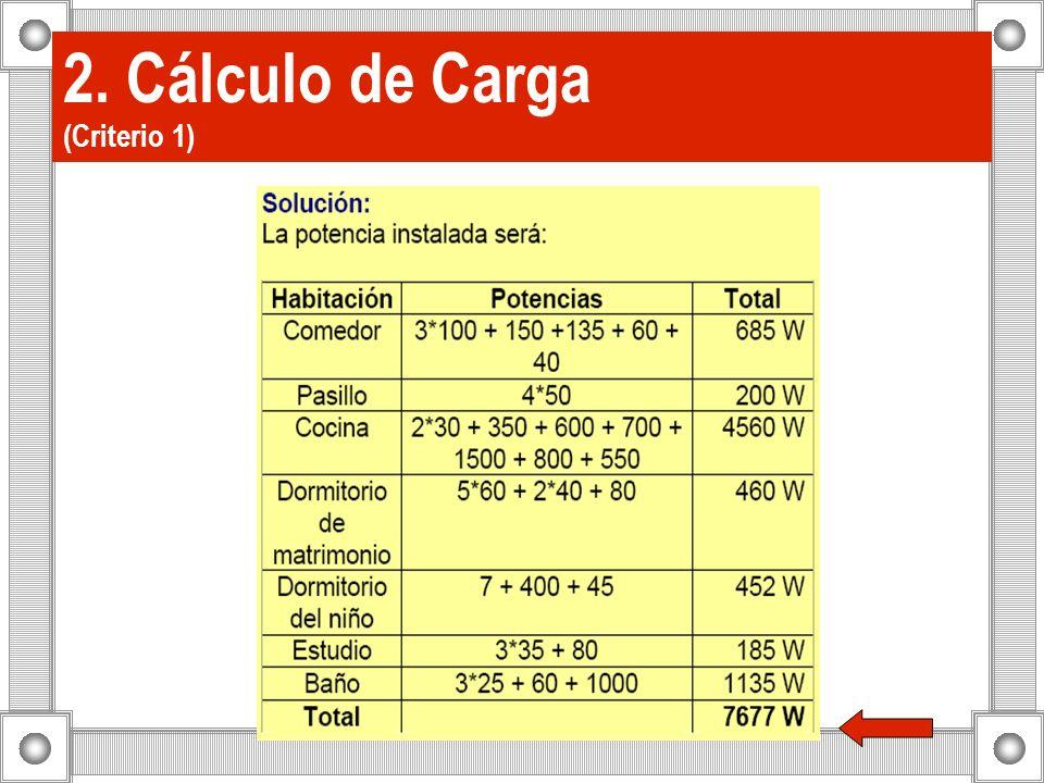 2. Cálculo de Carga (Criterio 1)