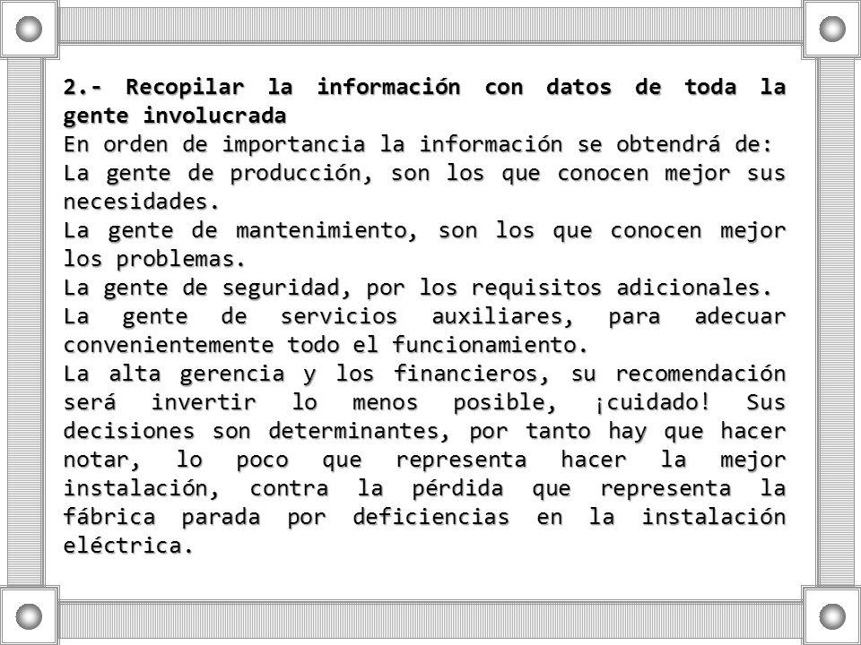 2.- Recopilar la información con datos de toda la gente involucrada