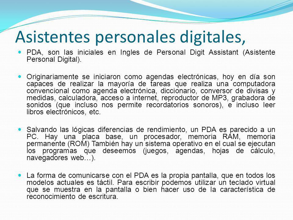 Asistentes personales digitales,