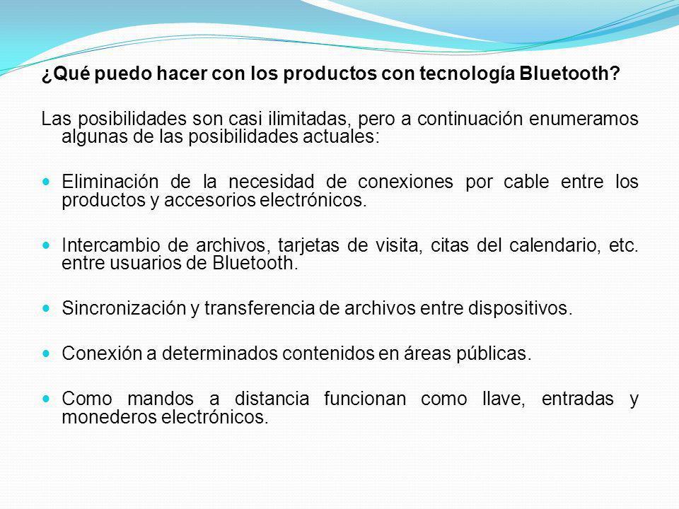 ¿Qué puedo hacer con los productos con tecnología Bluetooth