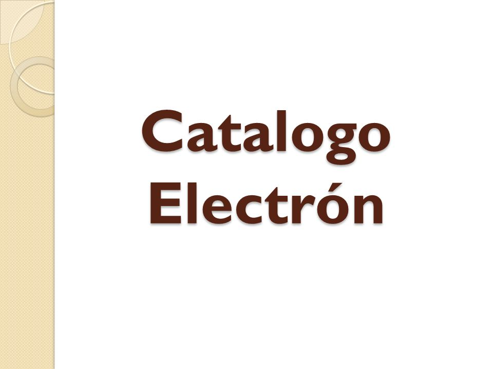Catalogo Electrón