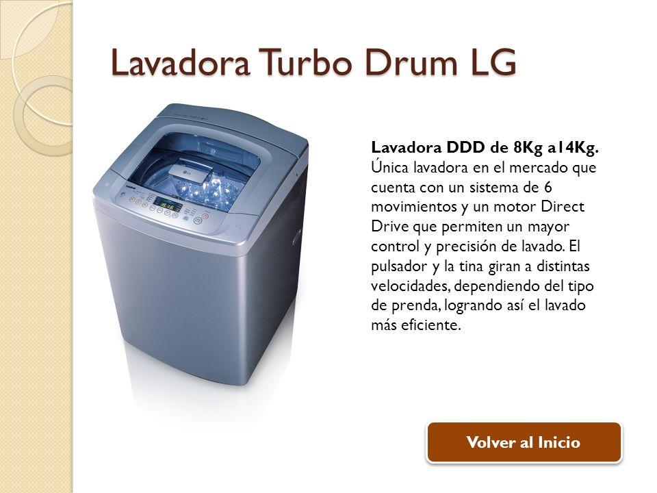Lavadora Turbo Drum LG Lavadora DDD de 8Kg a14Kg.