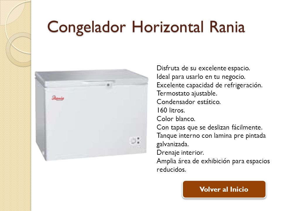 Congelador Horizontal Rania
