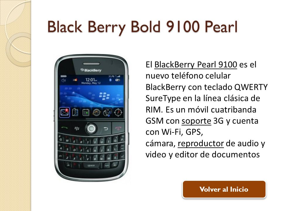 Black Berry Bold 9100 Pearl