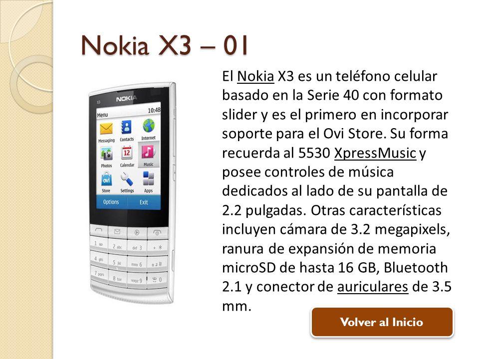 Nokia X3 – 01