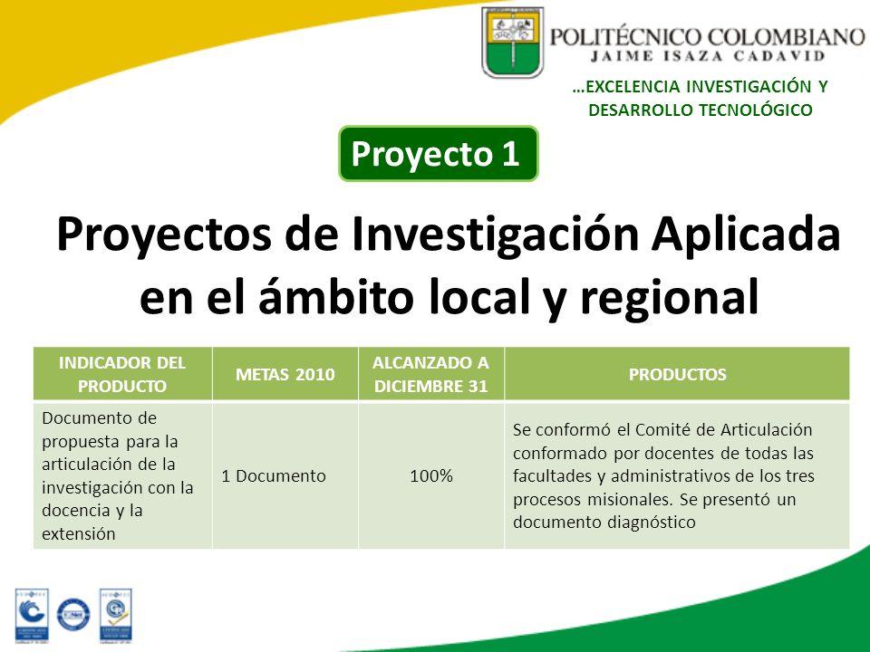 Proyectos de Investigación Aplicada en el ámbito local y regional